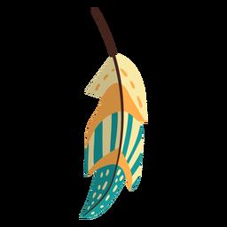 Flat boho feather yellow
