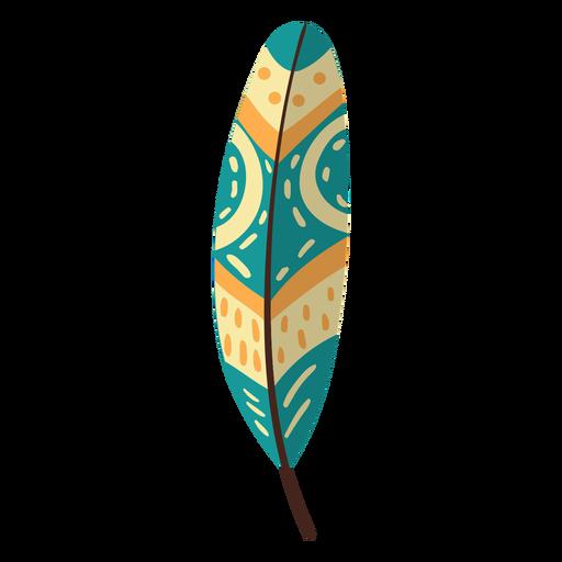 Flat boho feather yellow feather