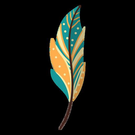 Flat boho indian feather