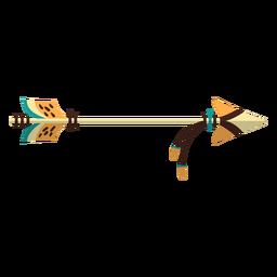 Flecha de madera plana boho