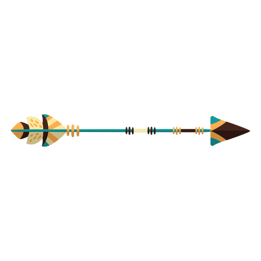 Flat boho wooden arrow arrow Transparent PNG