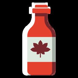 Botella plana de canadá