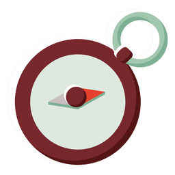 Flache Farbsymbol Kanada Kompass