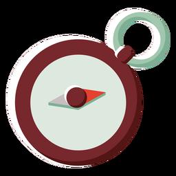Icono de color plano Canadá brújula