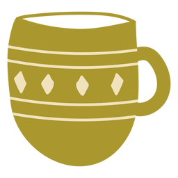 Flat green cup