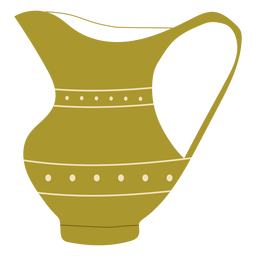 Flat green jug