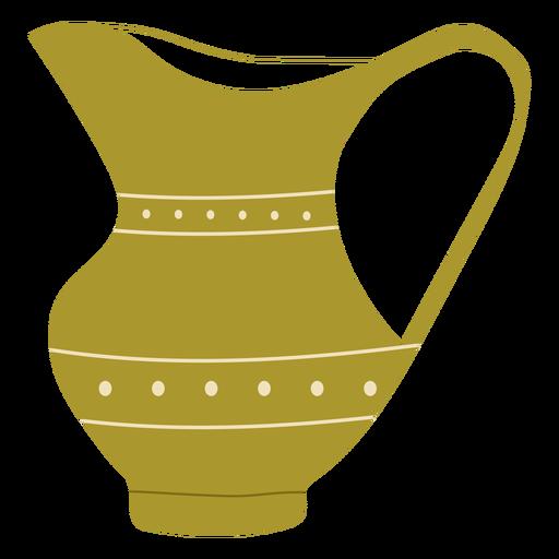 Flat green jug Transparent PNG