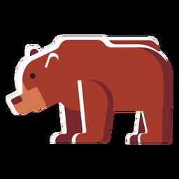 Icono plano oso