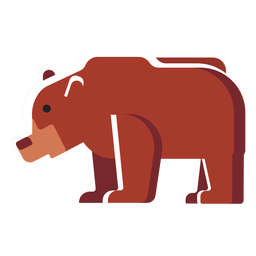 Urso de ícone plana