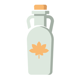 Botella de Canadá icono plana