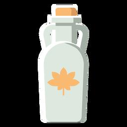 Flache Ikone Kanada-Flasche