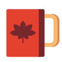 Flat icon canada cup