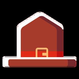 Flache Symbol Kanada Hut