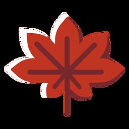 Icono plano hoja de arce de canadá