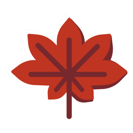 Flat icon canada maple leaf Transparent PNG