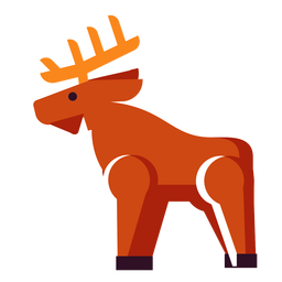 Ciervo de icono plano