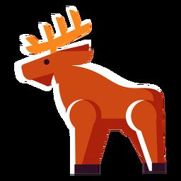Ciervo plano icono