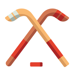 Flat icon hockey