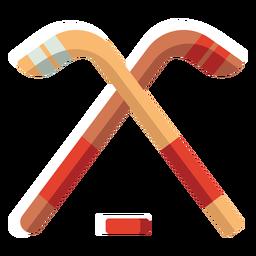 Hockey icono plano