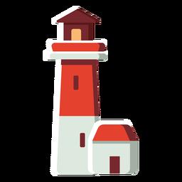 Faro de icono plano