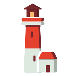 Flat icon lighthouse
