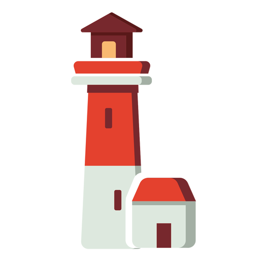 Faro de icono plano Transparent PNG