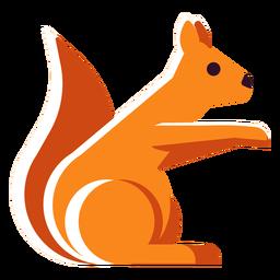 Esquilo de ícone plano