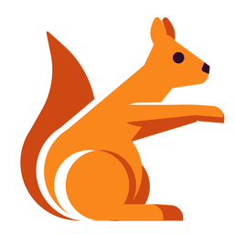 Flat icon squirrel