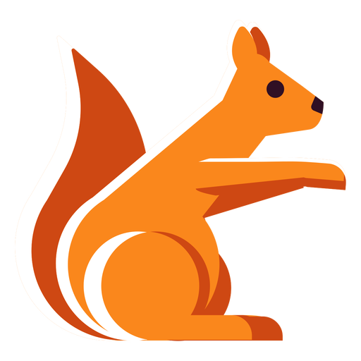 Ardilla icono plana Transparent PNG