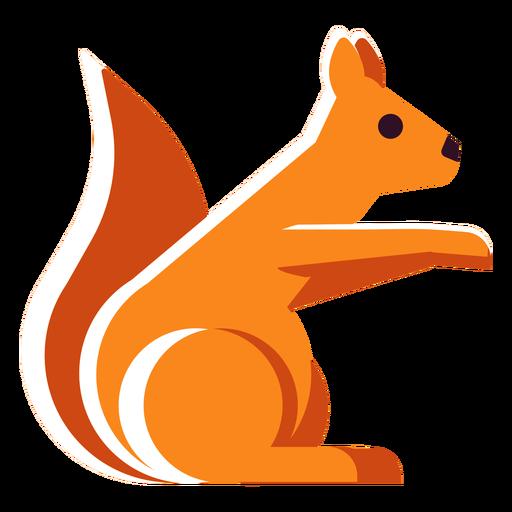 Flat icon squirrel