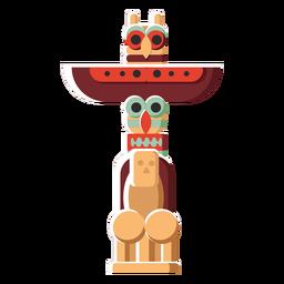Flat icon totem