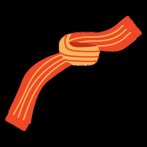 Flat orange scarf Transparent PNG