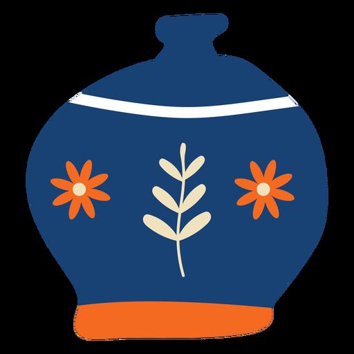 Flores de panela azul plana Transparent PNG