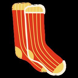 Flache rote Socken