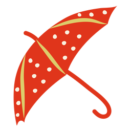 Paraguas rojo plano