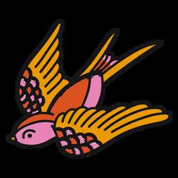 Curso de oldschool de pássaros de voar