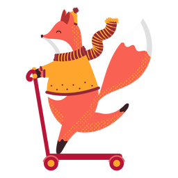 Fox autumn illustration