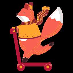 Ilustración otoño zorro