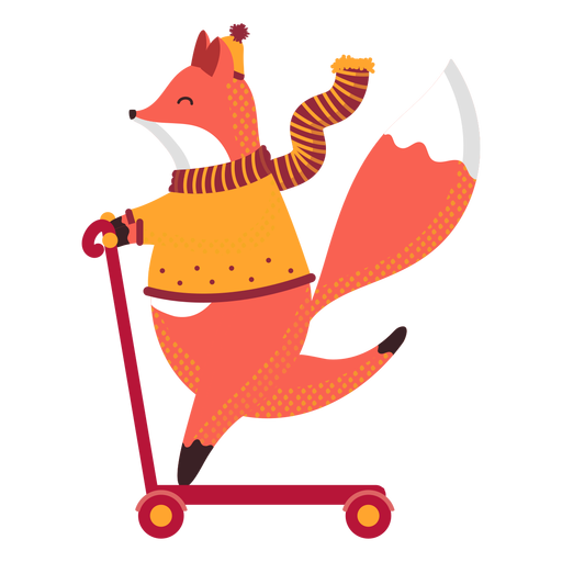Fox autumn illustration Transparent PNG