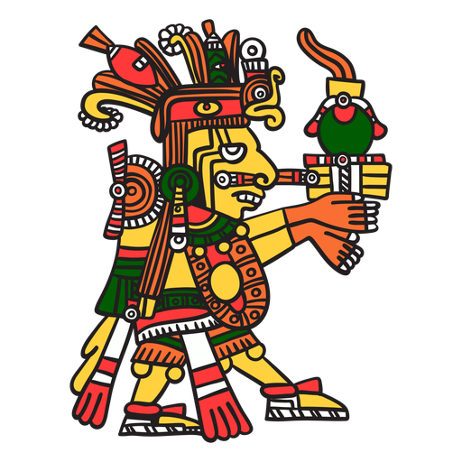 Dios azteca color centeotl Transparent PNG