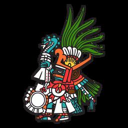 Dios azteca color huitzilopochtli