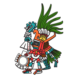 God aztec color huitzilopochtli