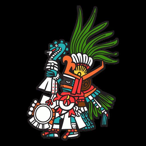 Dios azteca color huitzilopochtli Transparent PNG