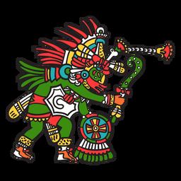 Dios azteca color quetzalcoatl