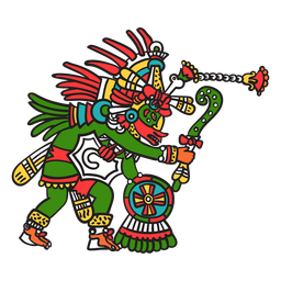 God aztec color quetzalcoatl