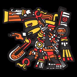 Dios azteca color tezcatlipoca