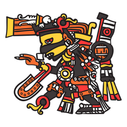 God aztec color tezcatlipoca