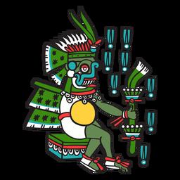 Dios azteca color tlaloc