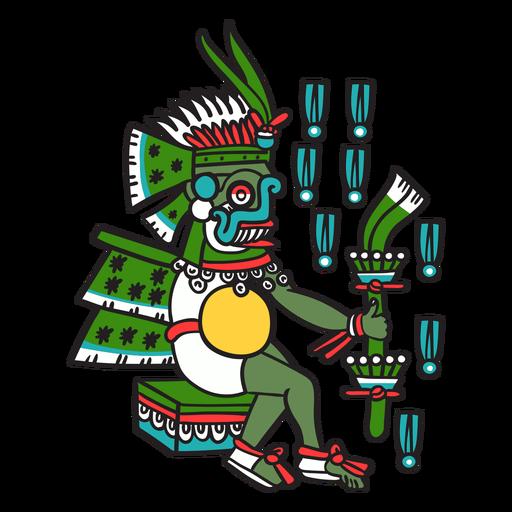 Dios azteca color tlaloc Transparent PNG