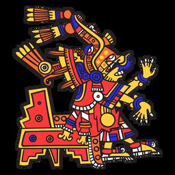 Dios azteca color xochiquetzal
